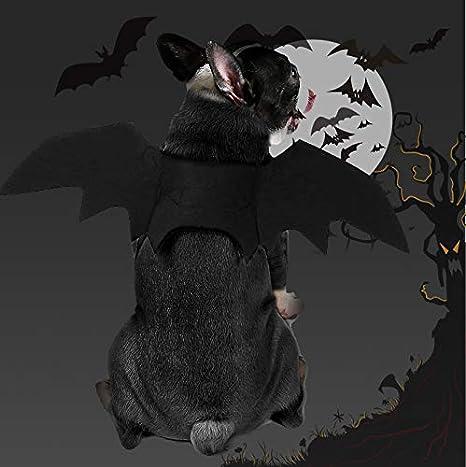 PEDOMUS Disfraz de Perro Disfraz de Halloween Perro Gato Disfraz de alas de murci/élago Vampiro peque/ño y Alto