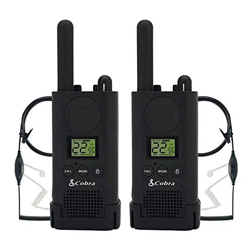 Cobra PX500 Walkie Talkies Pro Business Two-Way Radios (Pair, Bundled with Two GA-SV01 Headsets)