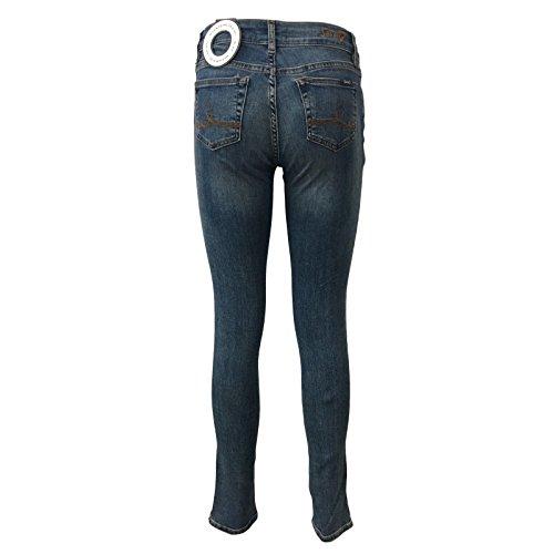 1247015 RICAMO donna alta vita SEVEN7 MIRA zip con MASONTOBACCO Rise Medium skinny jeans mod PRSRFqg