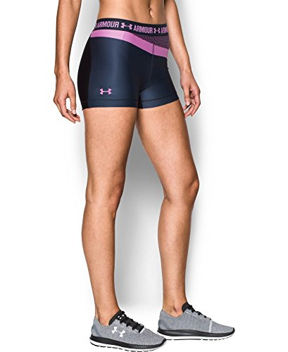 "Under Armour Women's UA HeatGear Armour 3"" Engineered Shorty X-Small Midnight Navy"