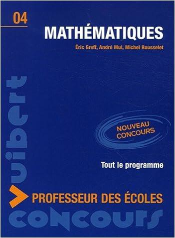 Mathématiques : Concours professeur des écoles pdf, epub