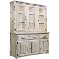 Montana Woodworks MWCHLDV Montana Collection China Hutch and Sideboard, Clear Lacquer Finish