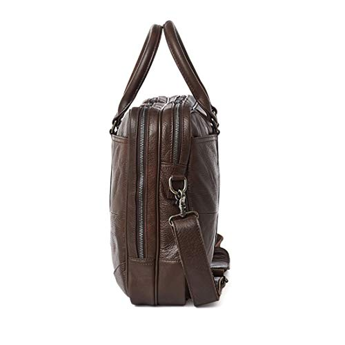 Bandoulière Cartable En Waveni Homme Sac Ordinateur Portable Brown Black color Cuir aqxOI