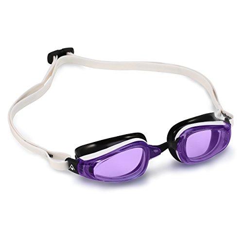 MP Michael Phelps K180Lunettes de natation M Violet Lens - White/Black
