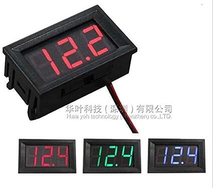 LINSUNG Digital Tube DC Voltage Meter 0 56 inch LED Digital Voltmeter  DC4 5V-30 0V Reverse Connection Protection