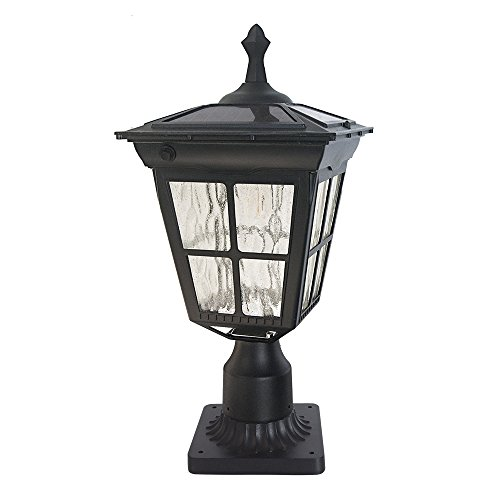 Outdoor Post Lights Led: Kemeco ST4311AQ 6 LED Solar Post Light With 3-Inch Fitter