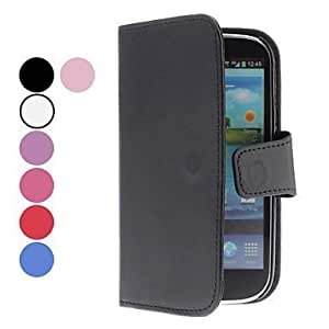Cerhinu Processing time 2 days-Solid Color PU Leather Case with Card Slot for Samsung Galaxy S3 I9300 (Assorted Colors...