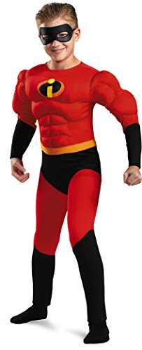 [Childs Boy's Disney The Incredibles Dash Muscle Chest Costume Large 10-12] (Dash Incredibles Costumes)