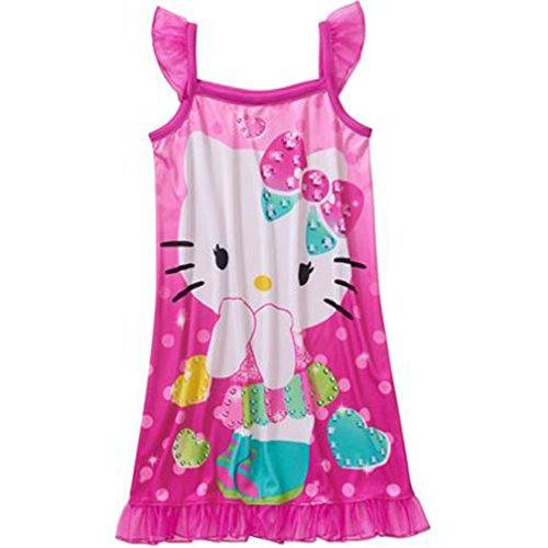 Hello Kitty Little Girls' Sleep Gowns - Sparkly hearts (6-6X)