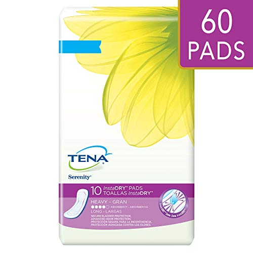 Tena Incontinence Pads for Women, InstaDRY Heavy, Long, 10 Count ()