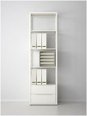 IKEA Fjälkinge - Estantería con cajones, blanco - 58x193 cm: Amazon.es: Hogar