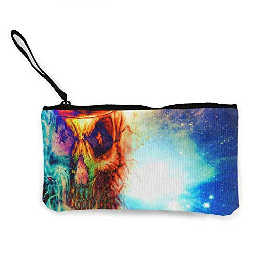 Canvas Coin Wallets Abstract,dark, Art, Artwork, Fantasy, Artistic, Original, Psychedelic, Horror, Evil, Creepy, Scary, Spooky, Halloween Wallpaper HD Small Purse W 8.5
