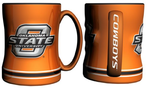 Oklahoma State Cowboys Sculpted Coffee Mug (Mug Oklahoma Coffee)