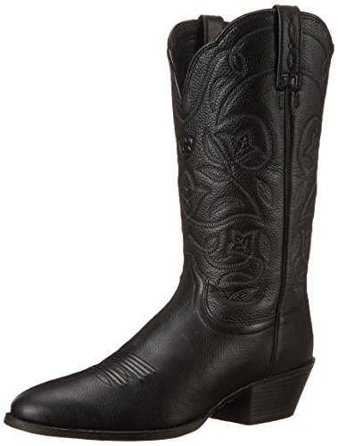 Ariat Women's Heritage Western R Toe Western Cowboy Boot, Black Deer Tan, 5.5 B US