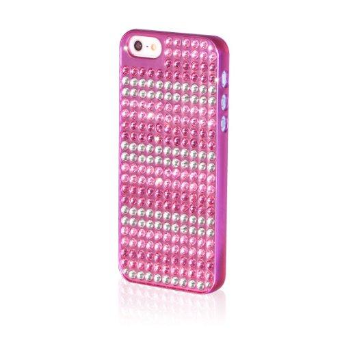 BlingMyThing ei5-pm-pk-pks Stripes Extravaganza Schutzhülle für Apple iPhone 5 metallic pink/pink