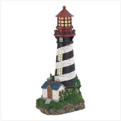MyEasyShopping Solar Lighthouse Garden Lamp, 1- Solar Lighthouse Garden Lamp, Handsome Lighthouse Solar Garden Lamp, Alabastrite Garden Patio Landscape Spotlight Display Solar Lighthouse Lamp Garden
