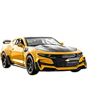 1: 32 Scale Diecast Camaro Car Model with Sound and Light,Zinc Alloy Doors Open Alloy Die-cast Car Model,Children's Toy,Men's Collection,Yellow