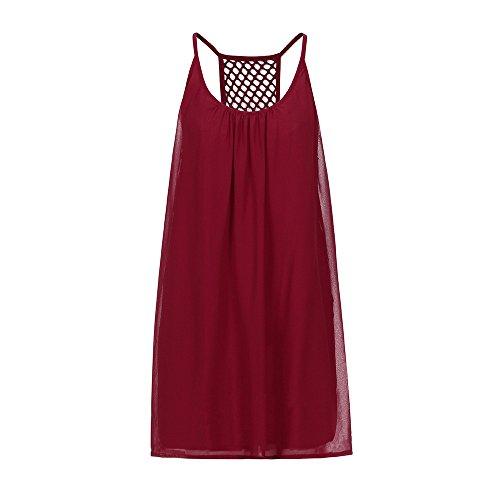 ... WINWINTOM Strand Kleider Damen Sommer Kurz   Kleider Damen Festlich    Damen Sommerkleid Spaghetti Gurt Zurück ... f4183e9e66