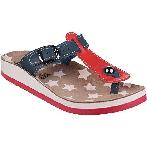By Red Flip Flop Metal Naxos Fantasy Sandal Leather Buckle Ladies xOqzW16U