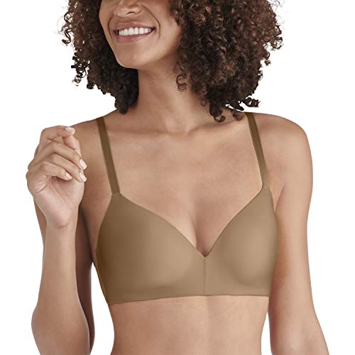 (Vanity Fair Women's Nearly Invisible Full Coverage Wirefree Bra 72200, totally tan, 36B)