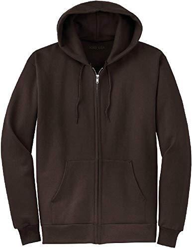 - Joe's USA Full Zipper Hoodies - Hooded Sweatshirts Size 2XL, Dark Chocolate