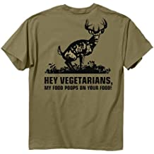 "Buck Wear camiseta manga corta ""food poops"", Prairie Dust"