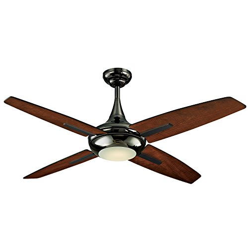 "Westinghouse 7204400 Bocca 52"" Reversible Plywood Four-Blade Energy Efficient LED Indoor Ceiling Fan, Gun Metal"
