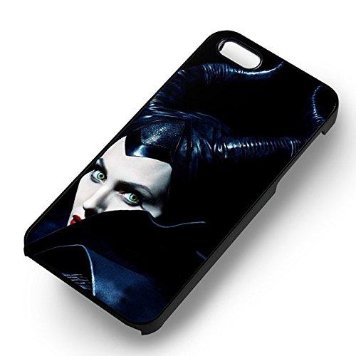 Disney Maleficent Angelina pour Coque Iphone 6 et Coque Iphone 6s Case (Noir Boîtier en plastique dur) L6E4GW