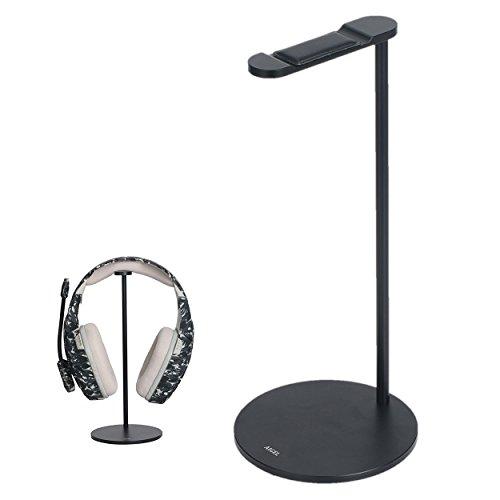 Aluminum Headphone - Headphones Stand Sturdy Gming Headset Holder Desk Headset Hanger, Headset Stand with Premium Aluminum Body for All Headphones Size,Non Slip Base,Black