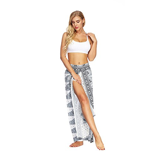 Hippie Élastique Blanc Sarouel Bonzaai Pantalon Taille 2 Pantaloni Femme Nouveau 0H7FE7
