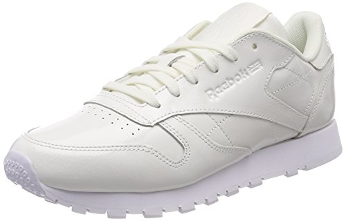 Reebok CL Lthr Patent, Zapatillas de Running Para Mujer Blanco (White 000)