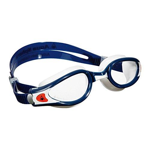 Aqua Sphere Unisex Adult Kaiman Exo Men's and Women's Swim Goggles, Blue/White, Regular