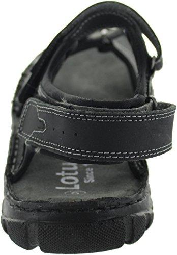 Noir Lotus Pour Noir Homme Sandales Noir OI8Rw