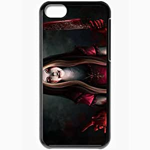 Personalized iPhone 5C Cell phone Case/Cover Skin Alice Knife Blood Black