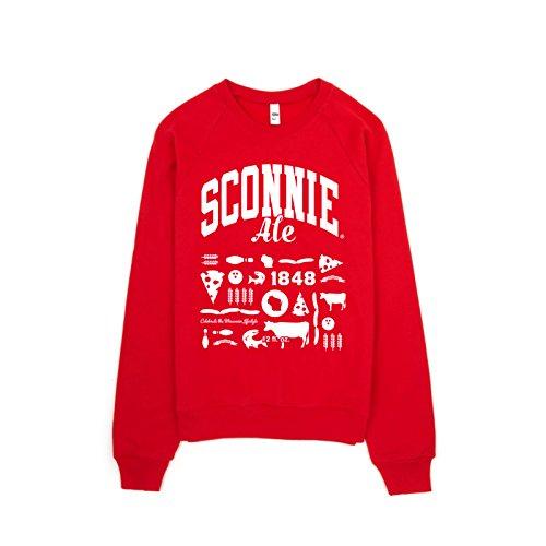 Sconnie Ale Premium Fleece Raglan Crewneck Sweatshirt - Small - ()