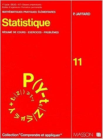 Téléchargement gratuit de livres audio en français STATISTIQUE. Résumé de cours, exercices, problèmes PDF 2225456283 by P Jaffard