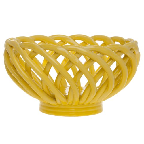 Signature Housewares Bread Basket, 8-Inch, - Ceramic Bread Baskets