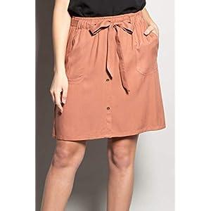 Deeluxe Fluid Skirt with Plated Pockets Marina
