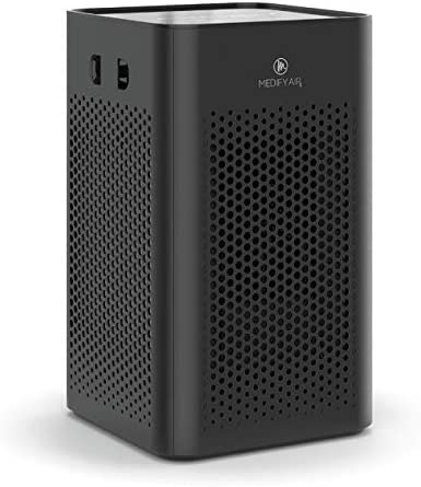 Medify MA-25 Air Purifier with H13 True HEPA Filter | 500 sq ft Coverage | for Smoke, Smokers, Dust, Odors, Pollen, Pet Dander | Quiet 99.9% Removal to 0.1 Microns | Black, 1-Pack