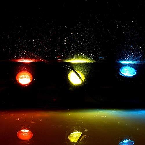 FOEERS 4pcs Waterproof Underwater Light Color Spotlight Lamp Garden Fountain Fish Tank Pool Pond Swimming Pool Aquarium Lighting by FOEERS (Image #4)