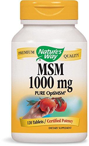 Nature's Way Premium Quality MSM 1000 mg PURE OptiMSM®, 120 Count