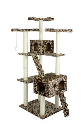 """73"""" Leopard Skin Cat Tree Condo Furniture Tower"""