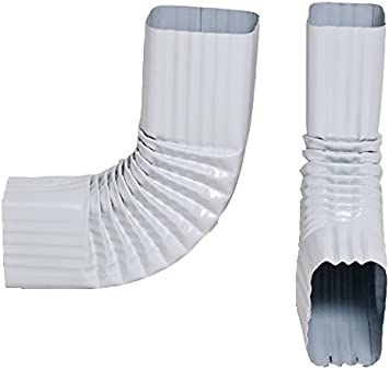 2x3 And 3x4 Downspout Gutter Elbows Choose From 30 Degree 45 Degree 75 Degree 90 Degree 90 Degree Style B 3x4 Low Gloss White Amazon Com