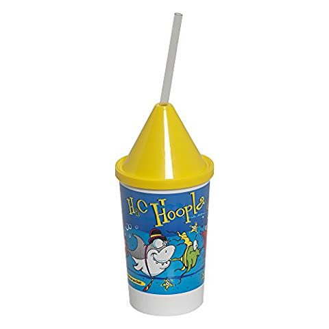Dixie 10KD271015 3 Piece H2O Hoopla Kid's Favorites Collectible 10 oz Cups, Lids and Clear Straws Set (Case of 400 cups, 400 lids, and 400 - 10 Ounce Styrofoam Cups
