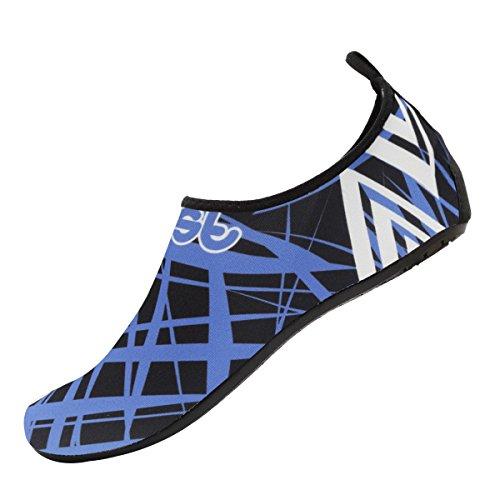 Cior Hommes Femmes Et Enfants Chaussures De Leau Aux Pieds Nus Peau Chaussures Anti-dérapant Pour La Plage Piscine Surf Natation Exercice Sneaker W.blue