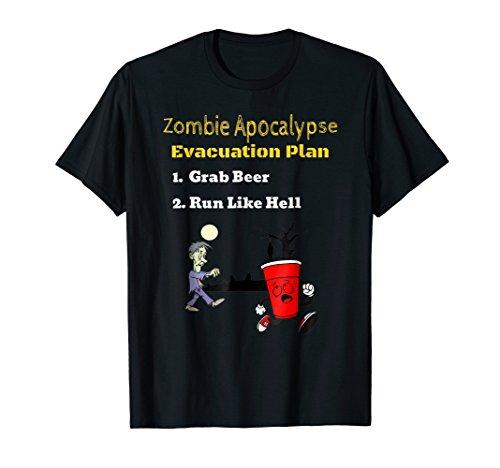 Zombie Apocalypse Evacuation Plan Halloween (Horror Movie Halloween Memes)