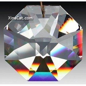 Swarovski 8115-50mm Lily Octagon Crystal Prism SunCatcher with Etched Logo