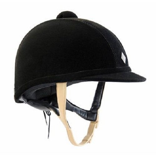 (Charles Owen Ayr8 Riding Helmet All Black Size 6)