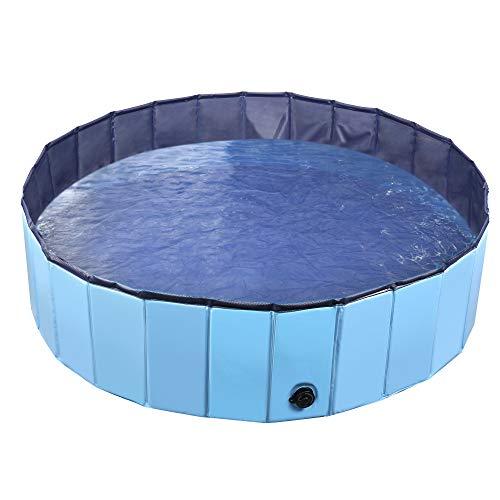 Jasonwell Foldable Dog Pet Bath Pool Collapsible Dog Pet Pool Bathing Tub Kiddie Pool for Dogs Cats...