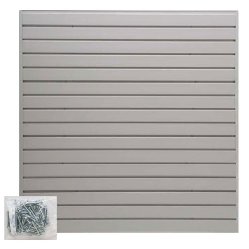 Jifram Easy Living 01000021 EasyWall Slatwall Kit, Light Gray by Jifram Extrusions